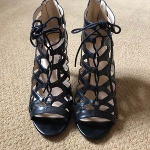 Nine West lace up heel black size 7.5